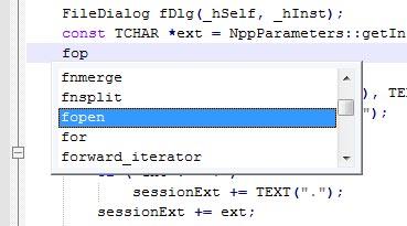 خاصیت auto compleiton در notepad++