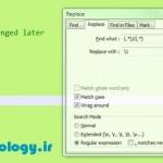 حذف متنهای توضیحات در Notepad++