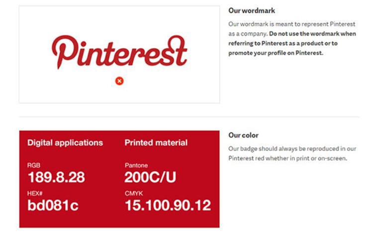علامت تجاری Pinterest