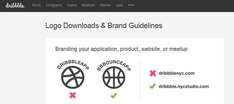 علامت تجاری Dribbble