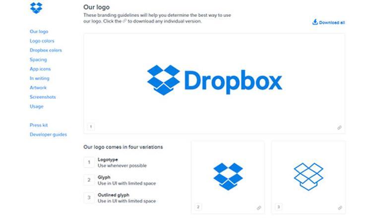 علامت تجاری Dropbox