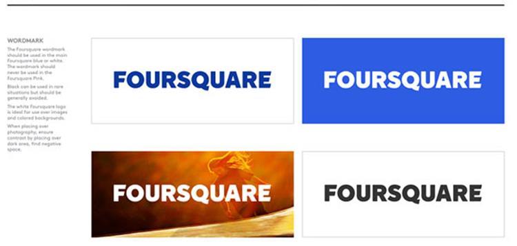علامت تجاری Foursquare