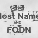 Hostname و FQDN سرور