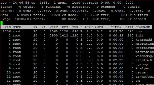 مرتب کردن نتایج با معیار میزان مصرف پردازنده (CPU)