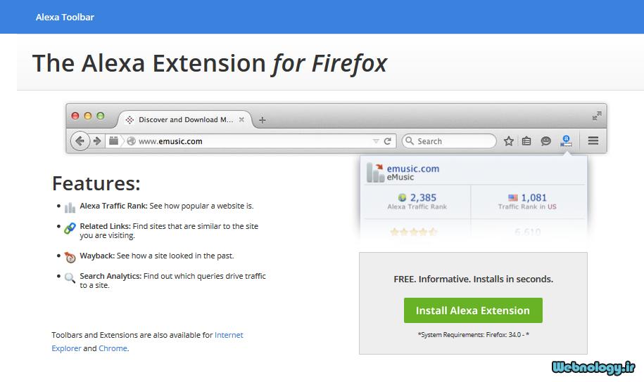 آموزش نصب نوار ابزار الکسا روی مرورگر Firefox