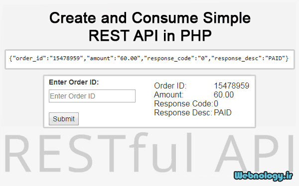 آموزش ساخت و نحوهٔ کاربرد REST API در PHP