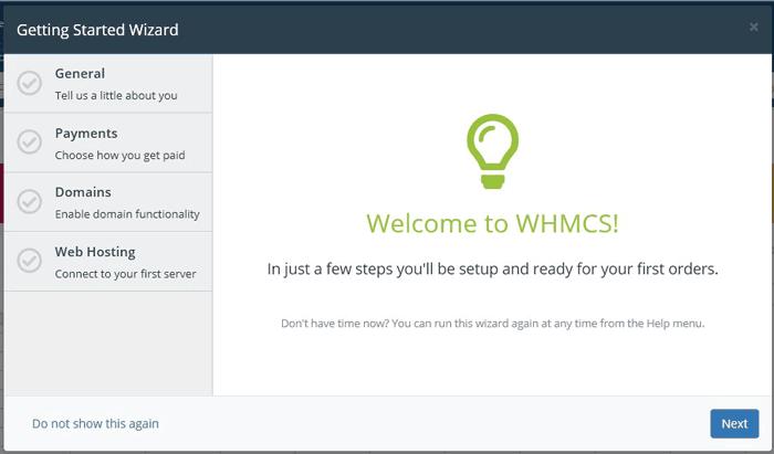 آموزش تنظیمات Setup Wizard در WHMCS