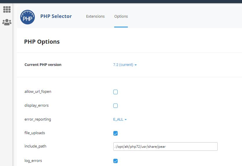 ویرایش دستورات php.ini از طریق خط فرمان روی PHP Selector کلود لینوکس