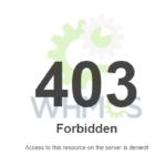 خطای ۴۰۳ در مواجه با برخی از صفحات مدیریت WHMCS